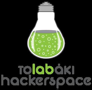 Logo of the τοlabάκι hackerspace.